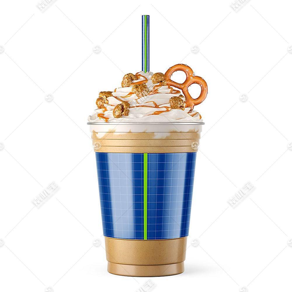 奶茶冰激凌杯子智能展示样机素材