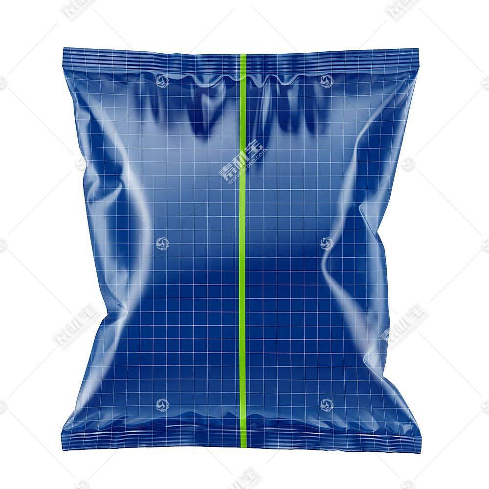 膨化食品零食包装袋智能展示样机素材