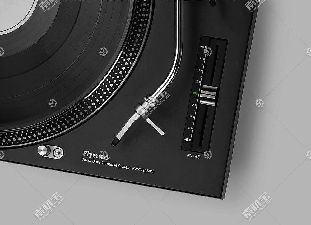 新式唱碟机智能展示样机素材