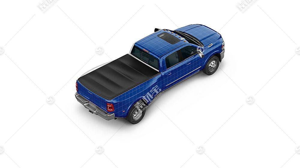 卡车货车智能展示样机素材