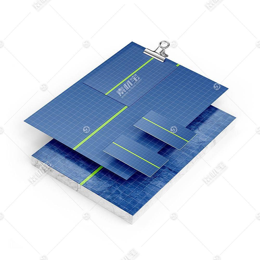 卡纸卡片智能展示样机素材