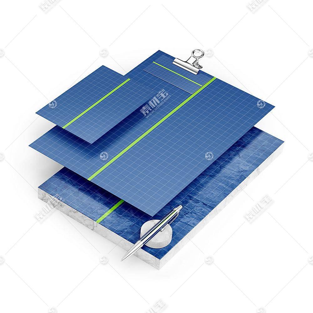 名片卡片文件智能展示样机素材