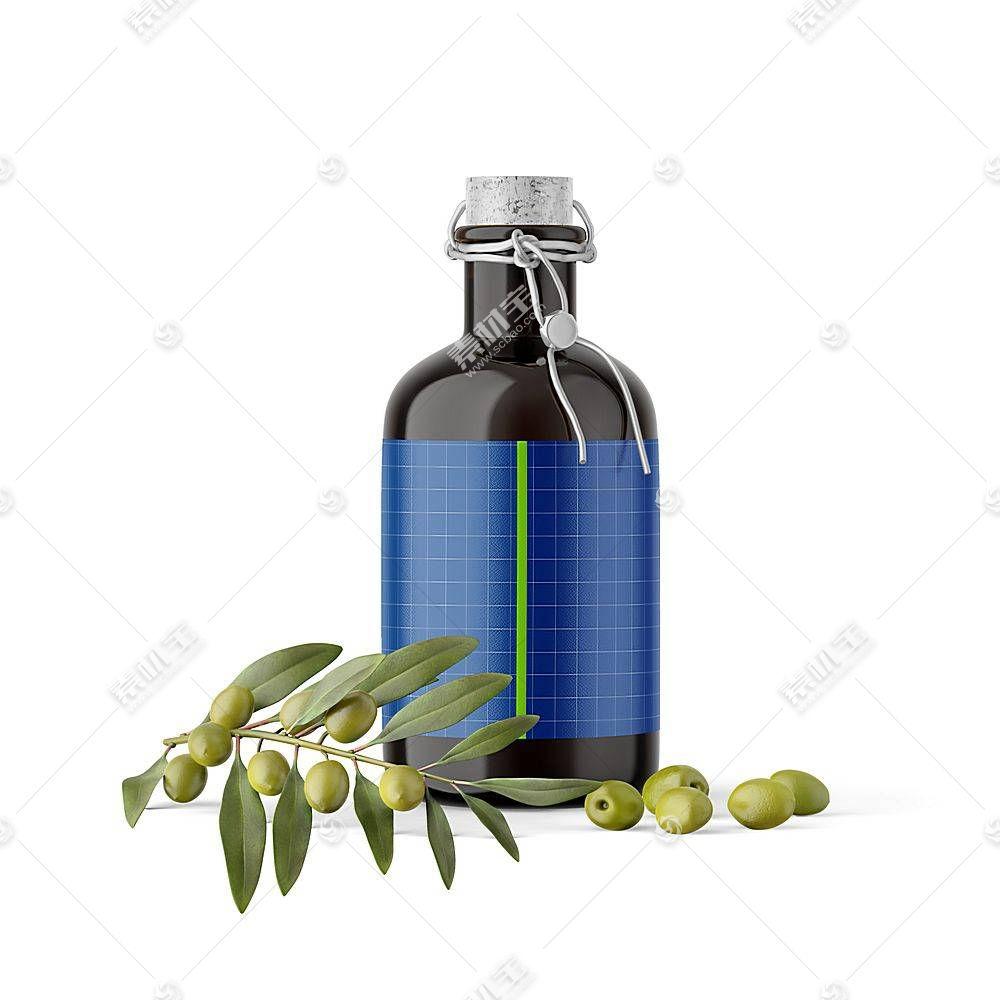 橄榄油智能展示样机素材