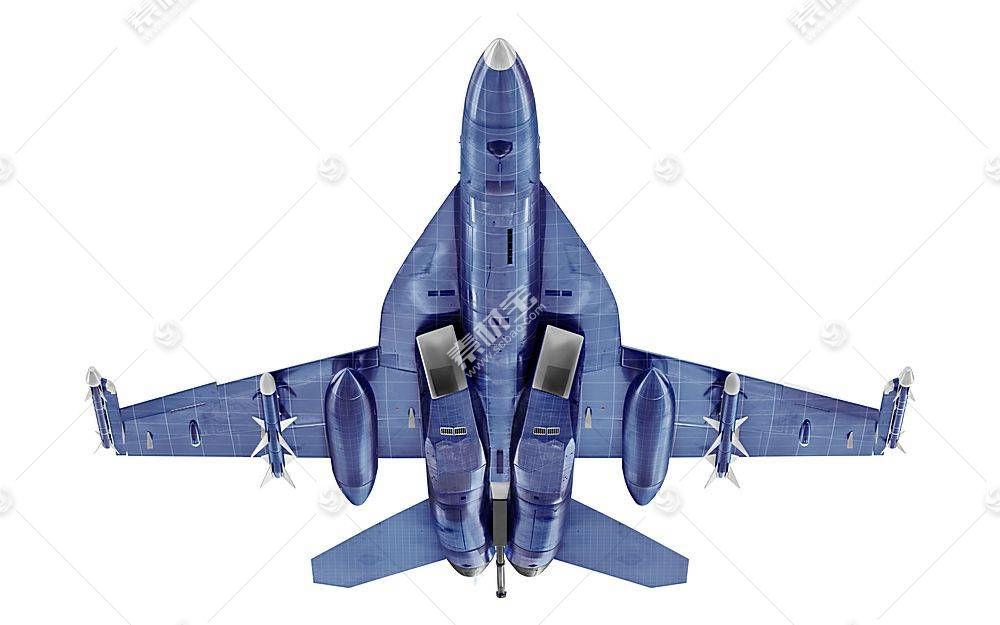 战斗机智能展示样机素材