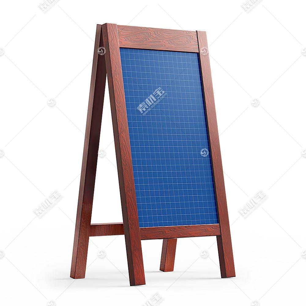 木质招牌店铺指示牌智能展示样机素材