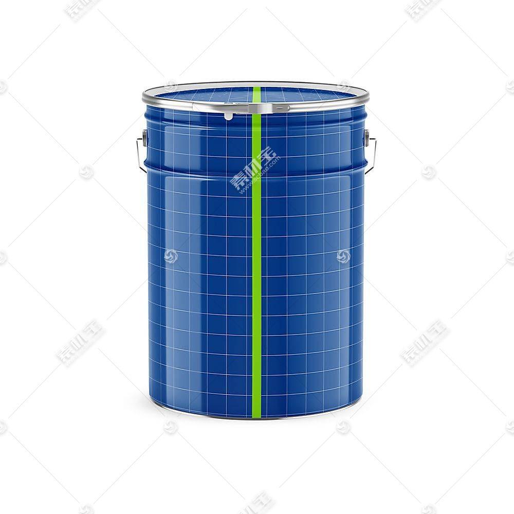 铁质油漆桶智能展示样机素材