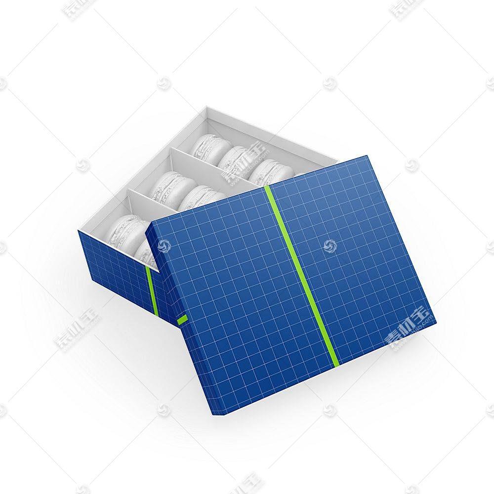 包装纸盒智能展示样机素材