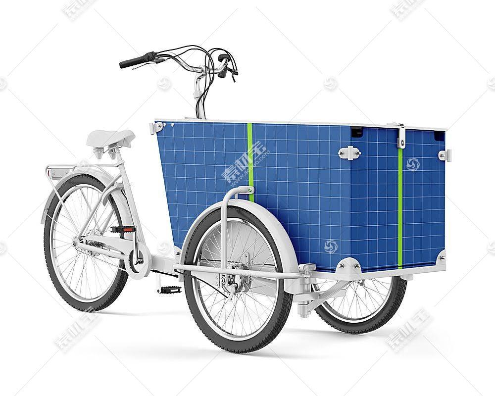 自行送货车智能展示样机素材