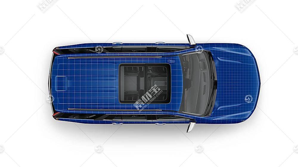 汽车车身智能展示样机素材