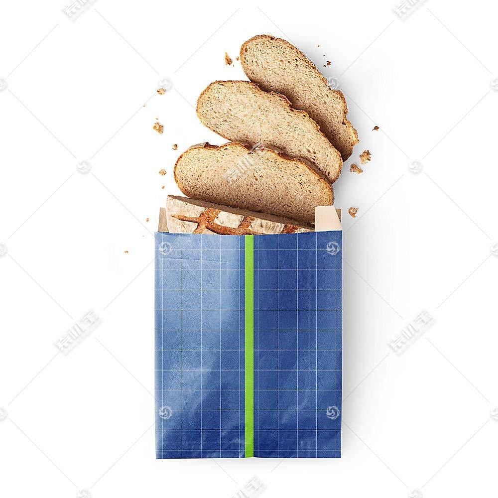 面包包装袋智能展示样机素材