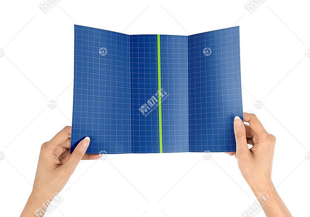 三折页智能展示样机素材