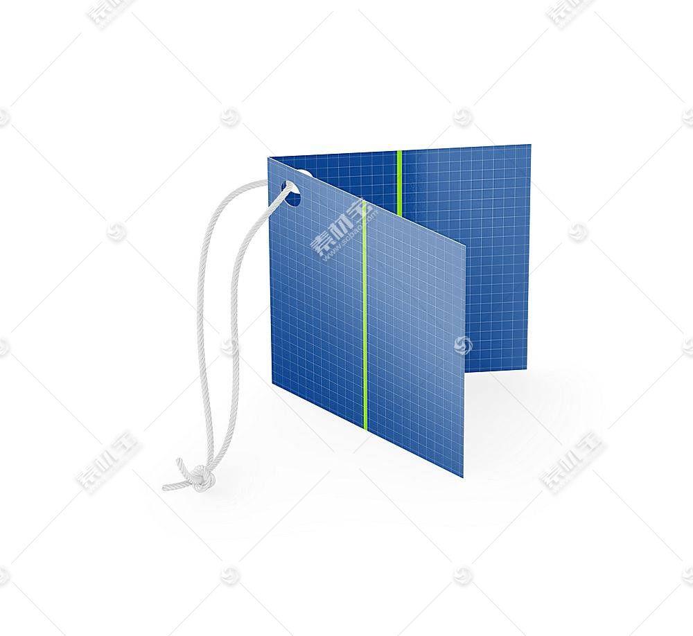 卡纸折纸卡片智能展示样机素材