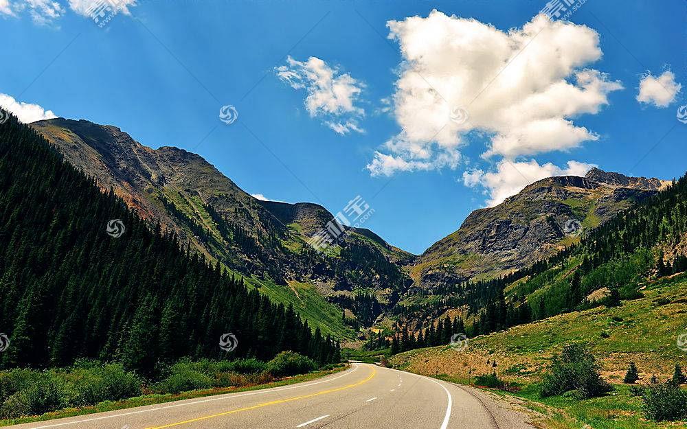 地球,山,山脉,路,风景,自然,树,森林,壁纸,图片