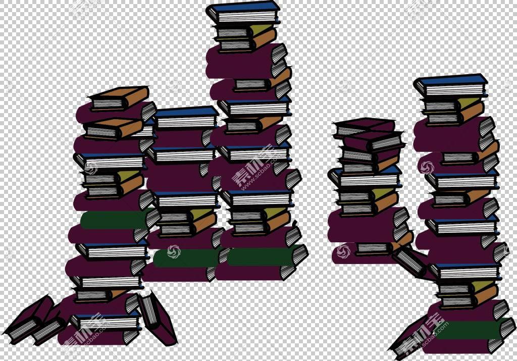堆叠在一起的书本书籍