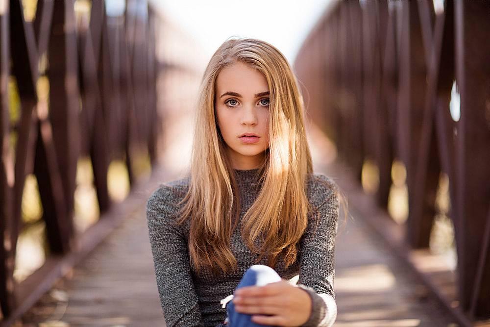女孩,白皙的,蓝色,眼睛,深度,关于,领域,壁纸,(5)