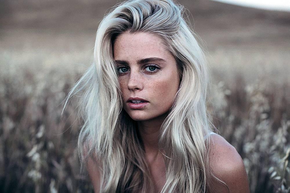 女孩,白皙的,蓝色,眼睛,深度,关于,领域,脸,壁纸,(1)