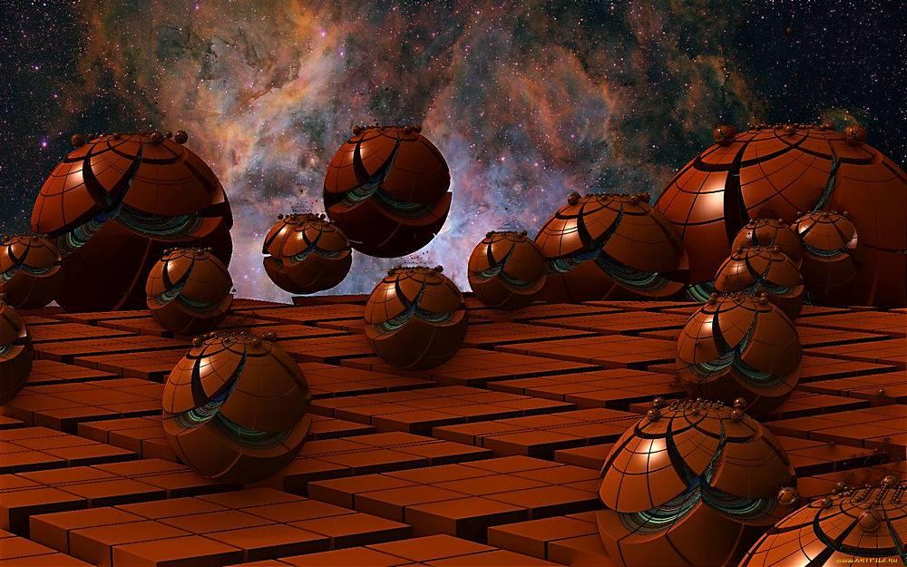 抽象,球,3D,壁纸,