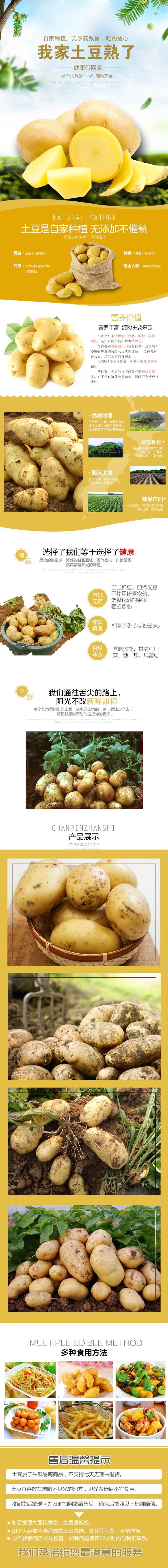土豆马铃薯农产品土特产详情页