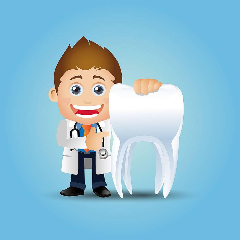 牙医和牙齿主题牙医口腔爱牙护牙人物矢量插画设计