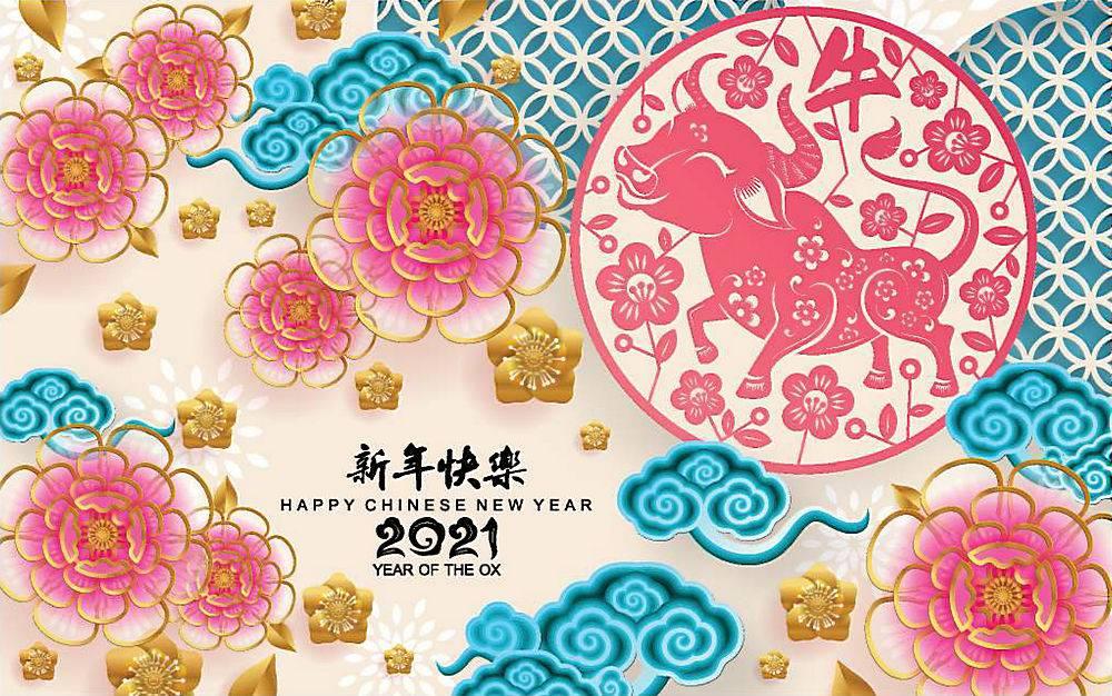 2021年中国新年贺卡