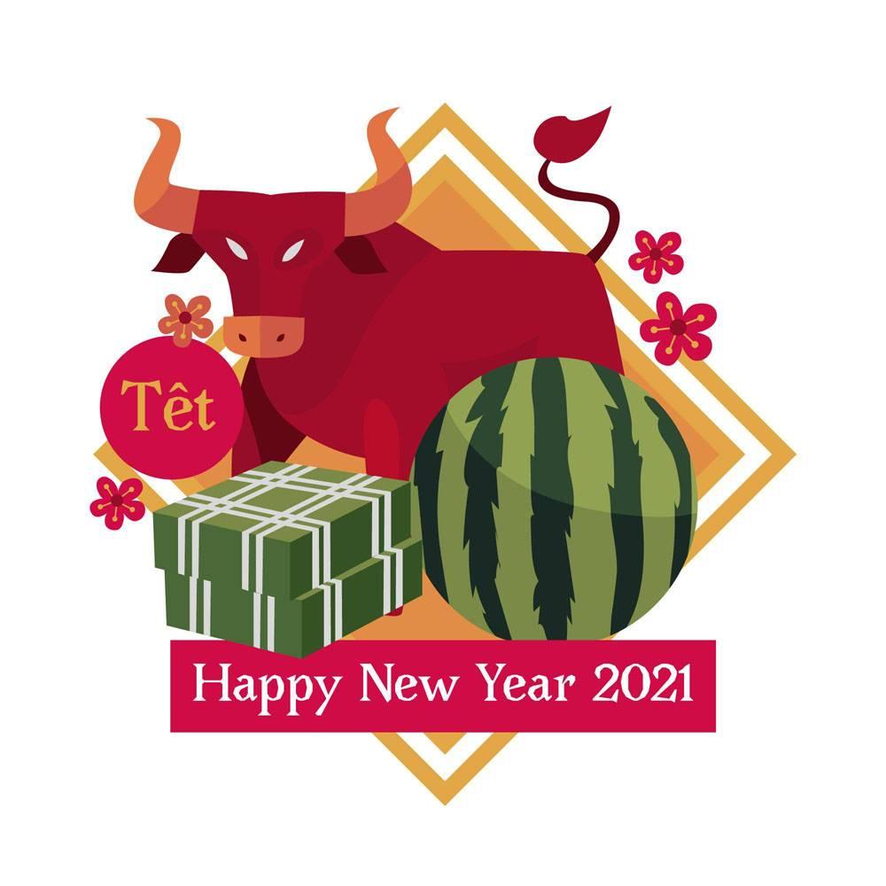 越南新年2021年和红牛