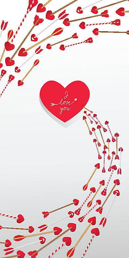 旋转发射的爱心箭