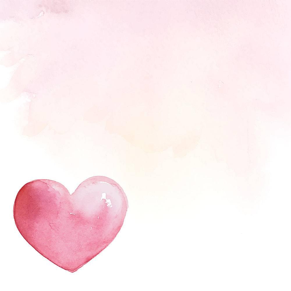 情人节背景水彩样式矢量背景