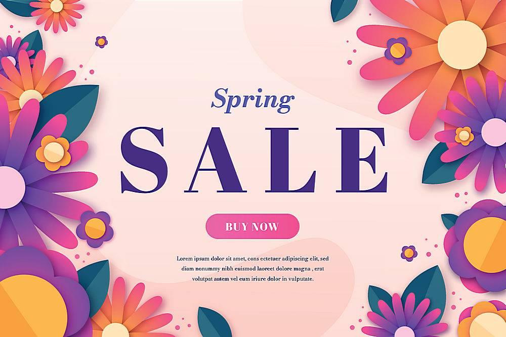 五顏六色的紙質春季特賣會_68489060101