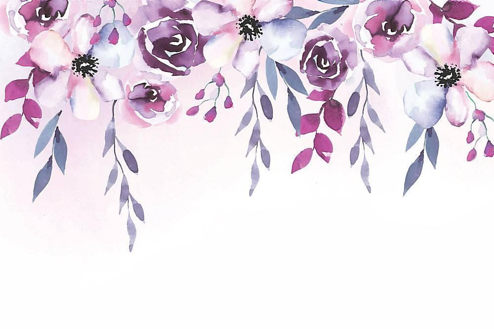 水彩画花卉背景设计_76276140102