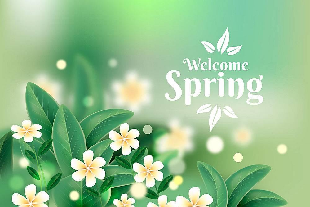 逼真的春天背景_124273560101