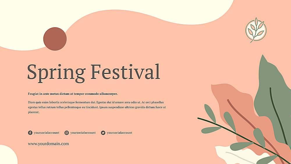 花卉粉色春季横幅模板_67280020102