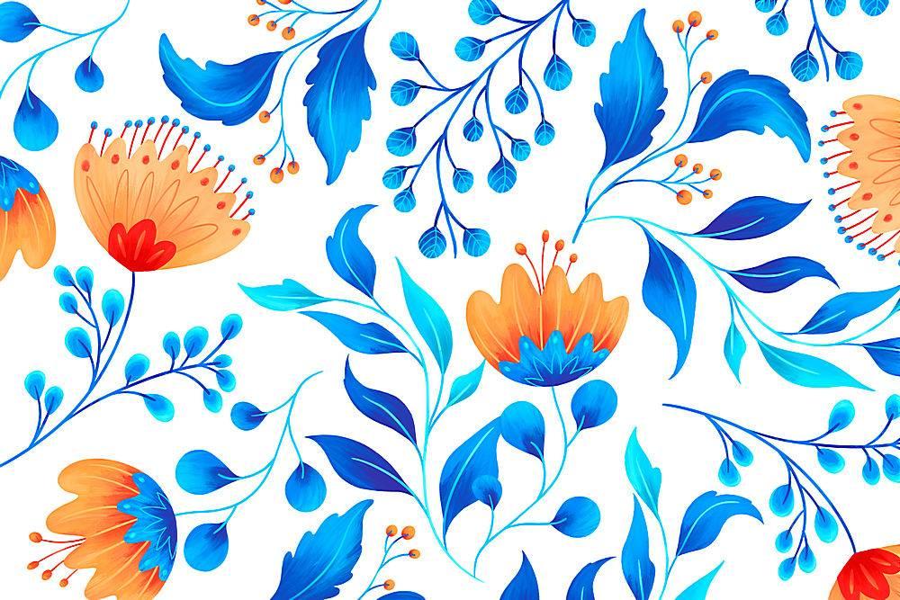 具有艺术性花卉的观赏花卉图案_48598630102