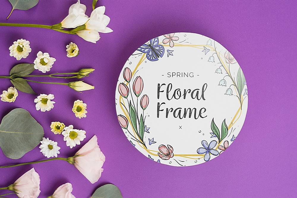 春季花卉圆纸模板_38816130102