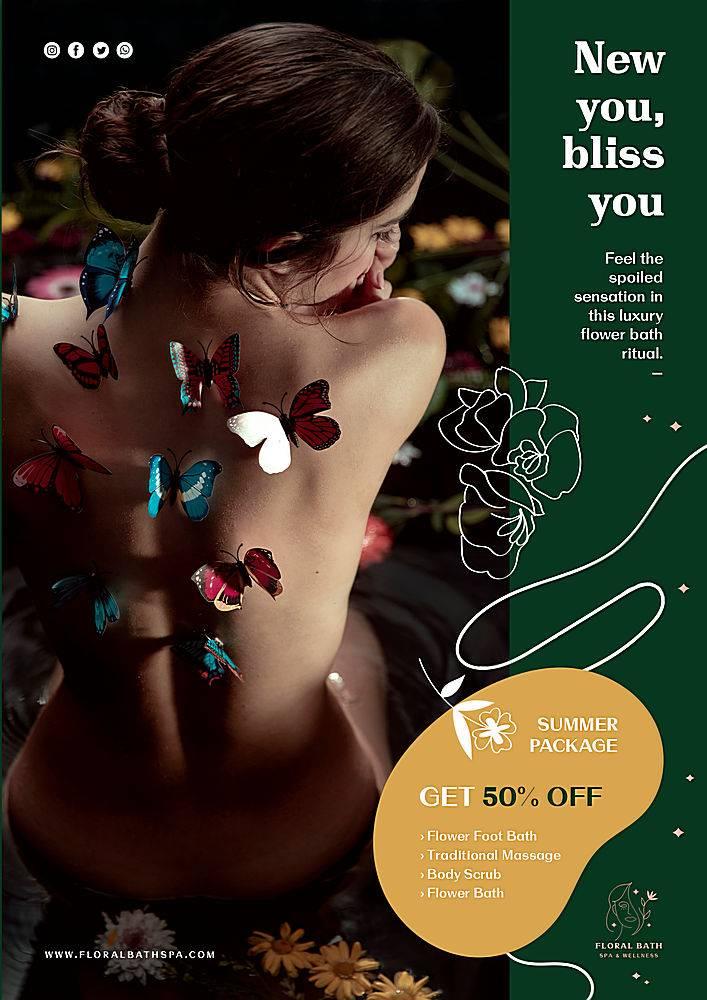 海报花卉水疗广告模板_114026940101