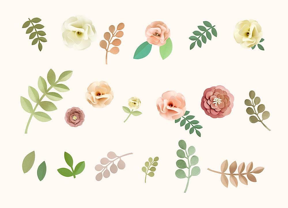 玫瑰花纹花卉质感概念_27774450102