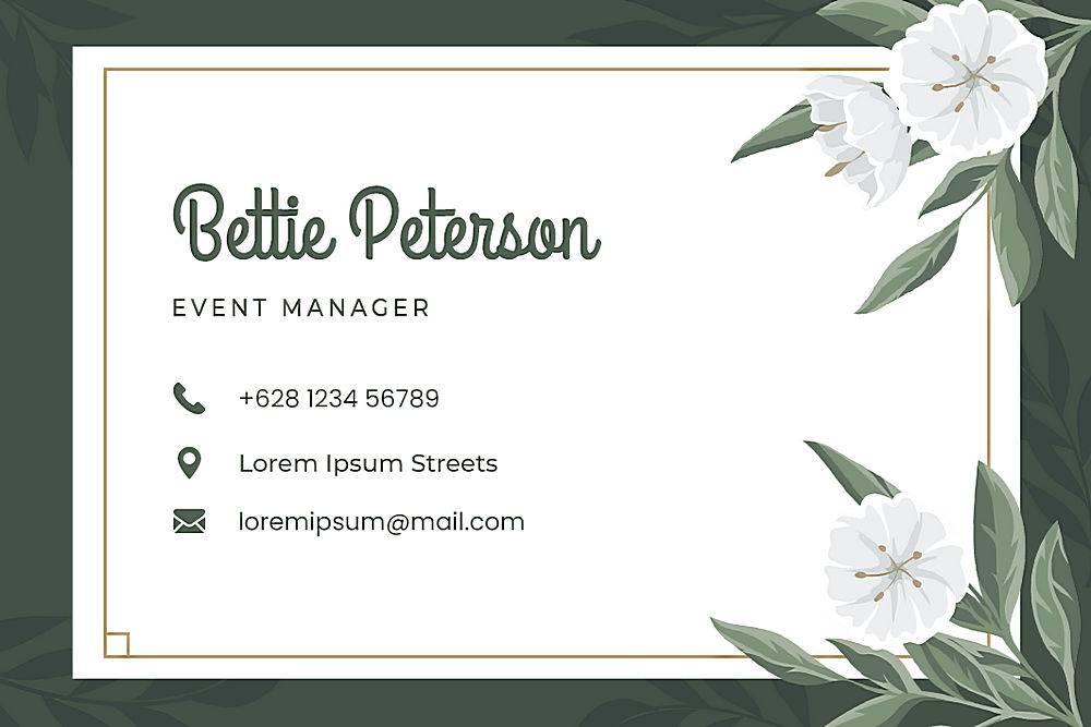 婚礼用花卉名片模板_78238800102