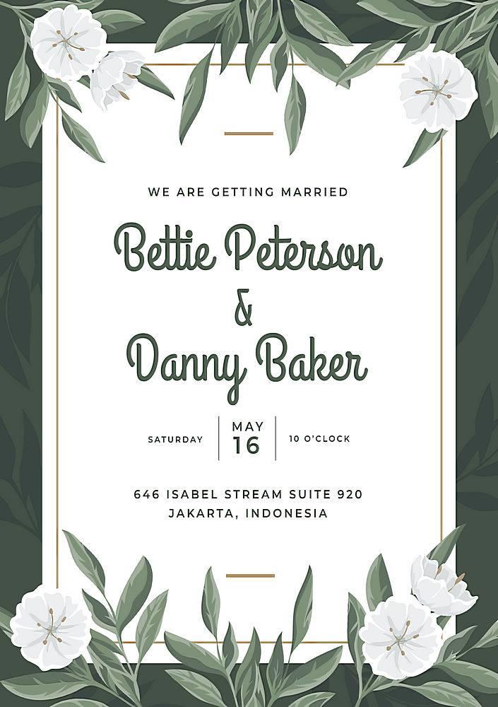 婚礼用花卉海报模板_78238790102