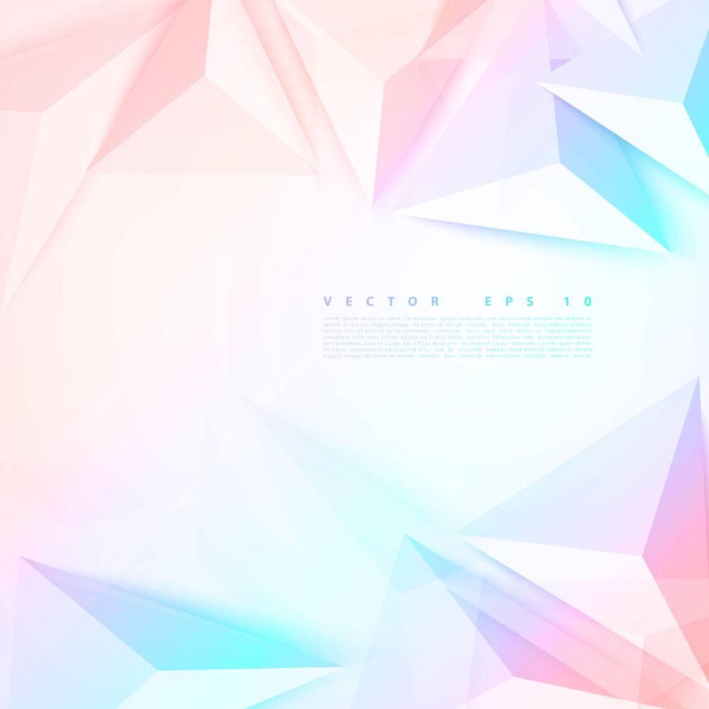 矢量背景抽象多边形三角形_13065770101
