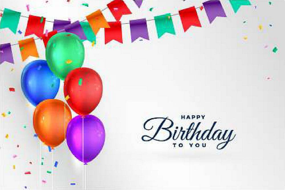 以逼真气球为背景的生日快乐庆祝活动_62361800101