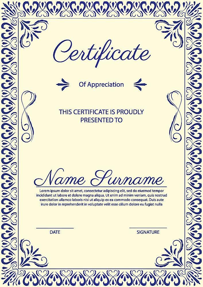 装饰性年份证书模板_327879403