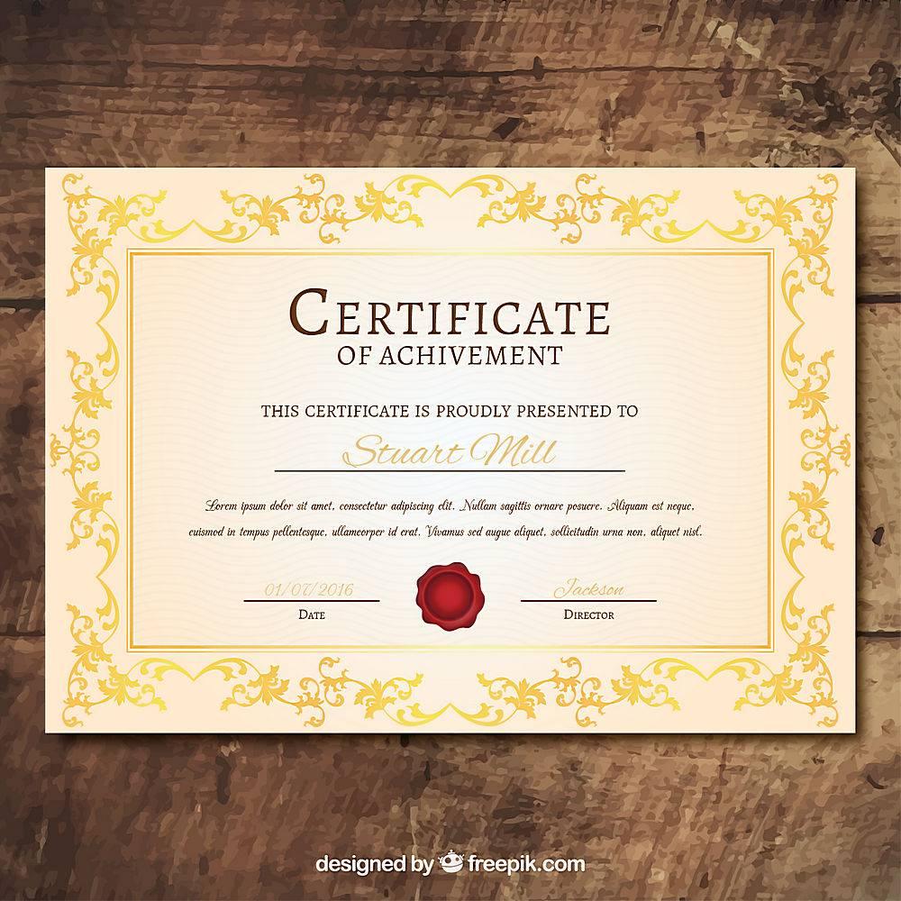 装饰性毕业证书模板_895114