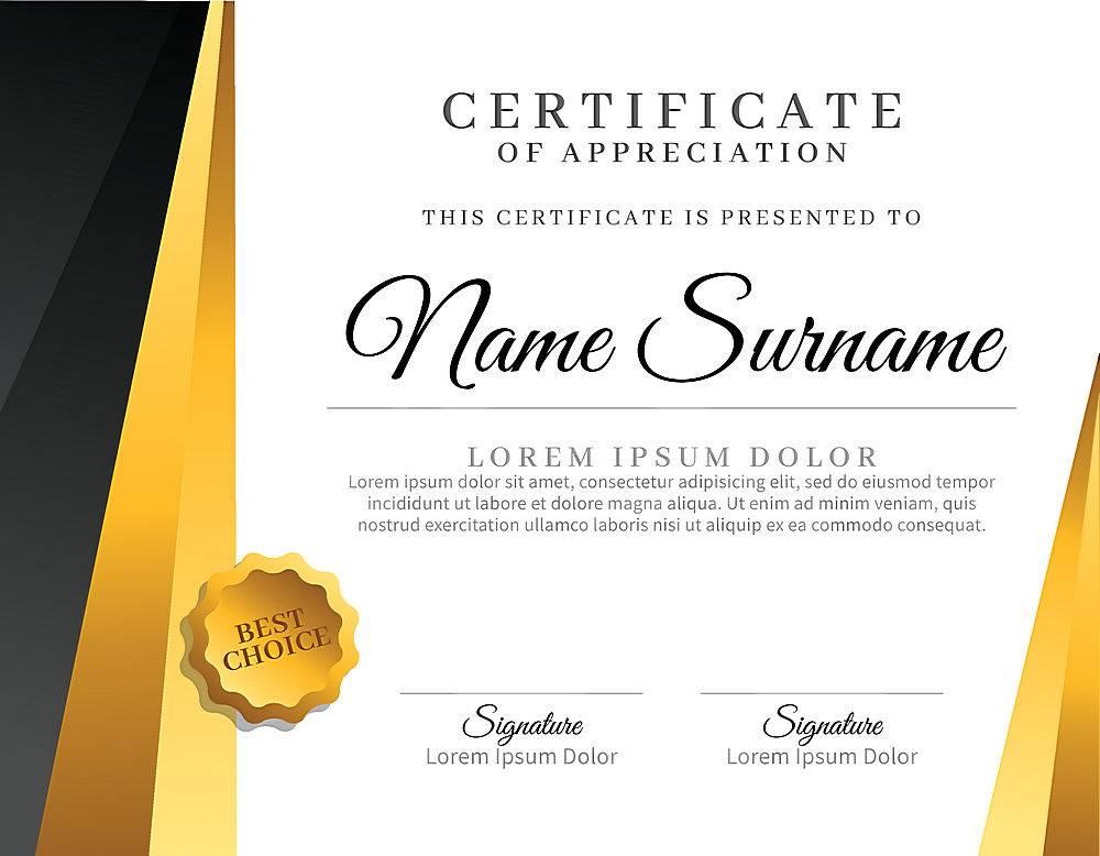 带有金色元素的装饰性毕业证书模板_314003403