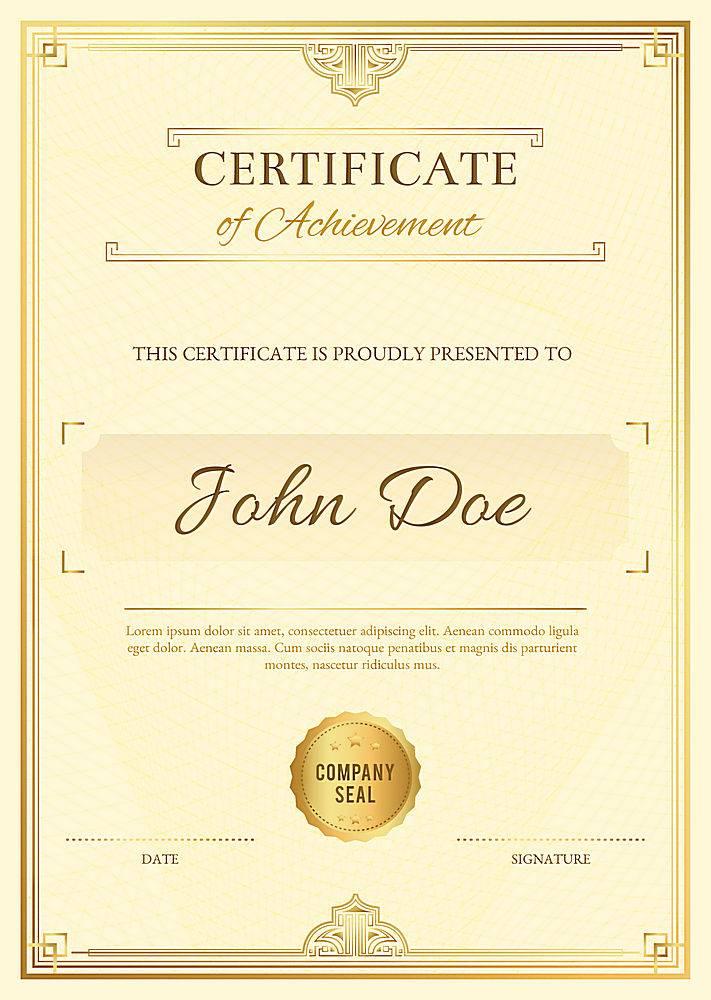 带有金色元素的雅致毕业证书模板_314005803
