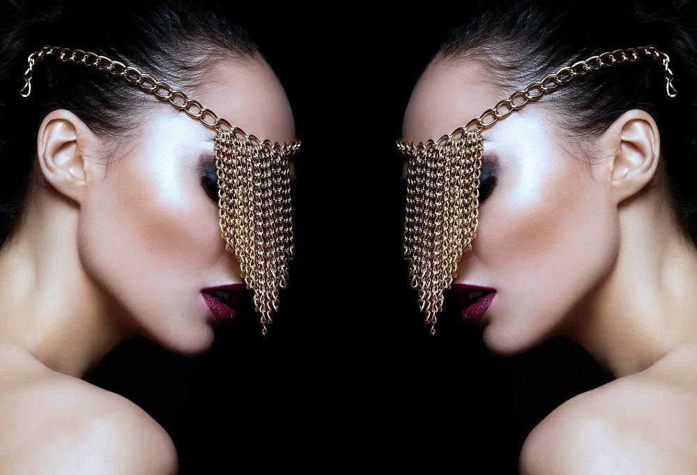 高级时尚造型美丽性感的高加索年轻女性模_6492327