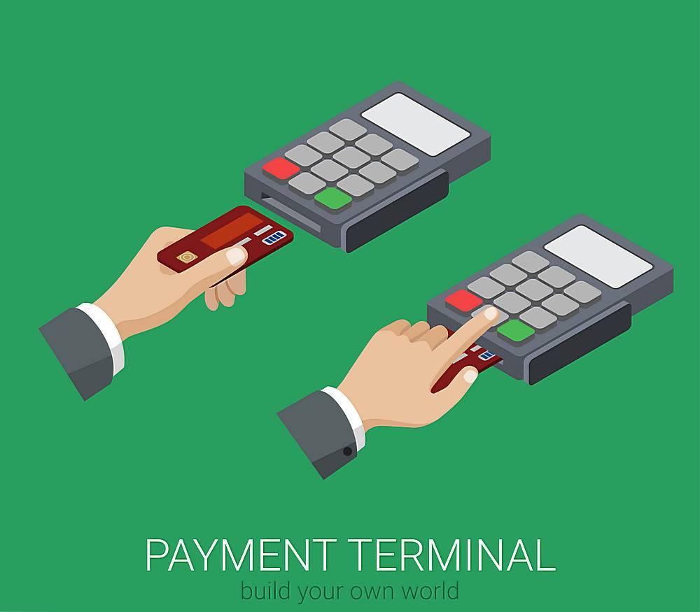 平面d等距信用卡付款pos终端PIN码使用web信_11552717