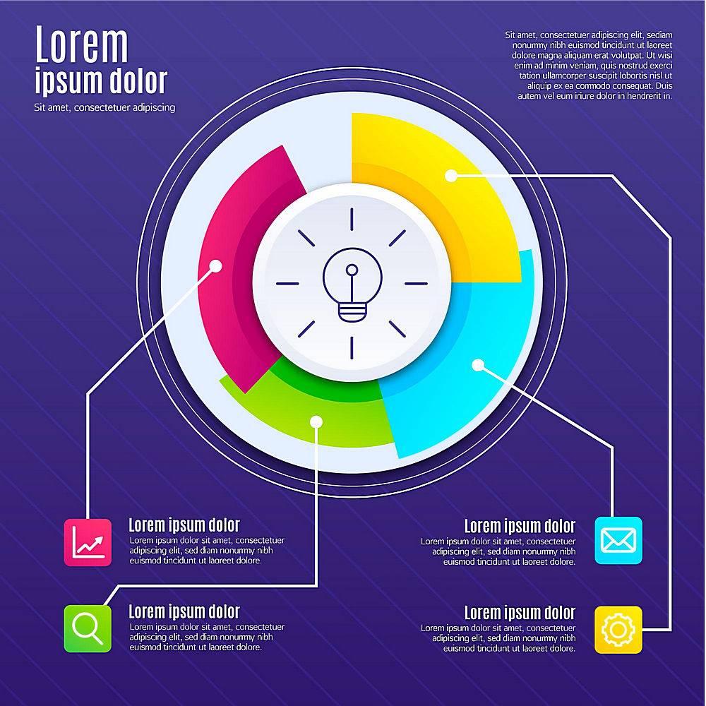创意信息图的平面设计_10102357