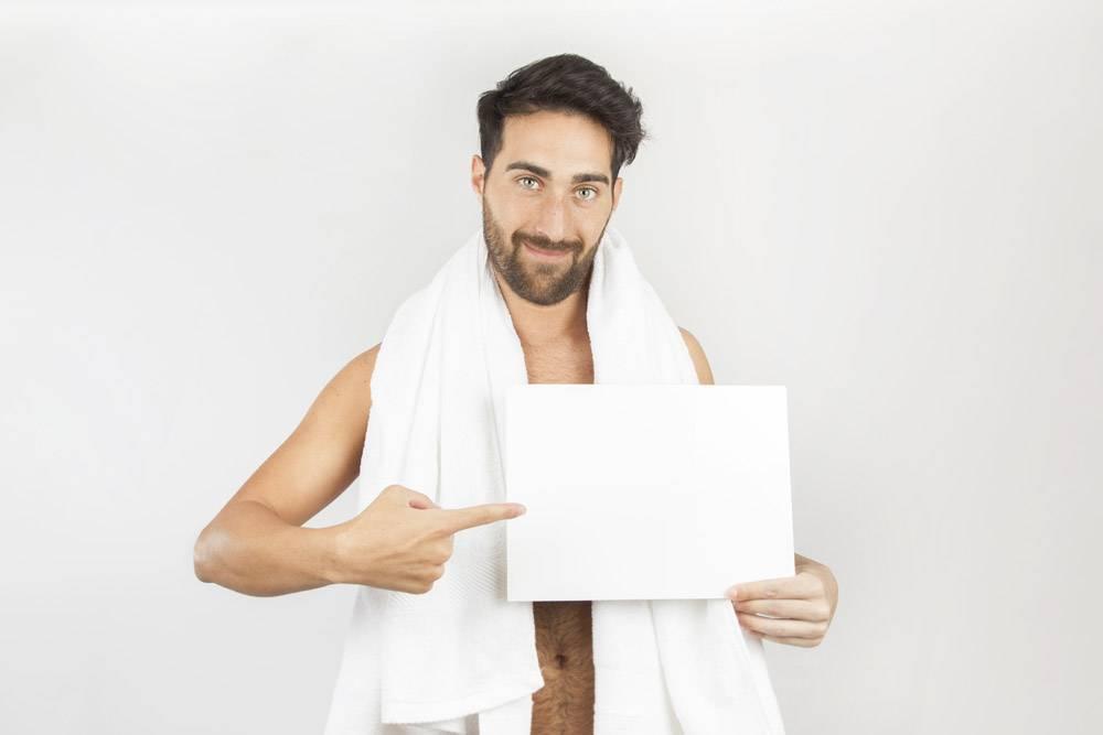 男人洗澡后用石板_1172402