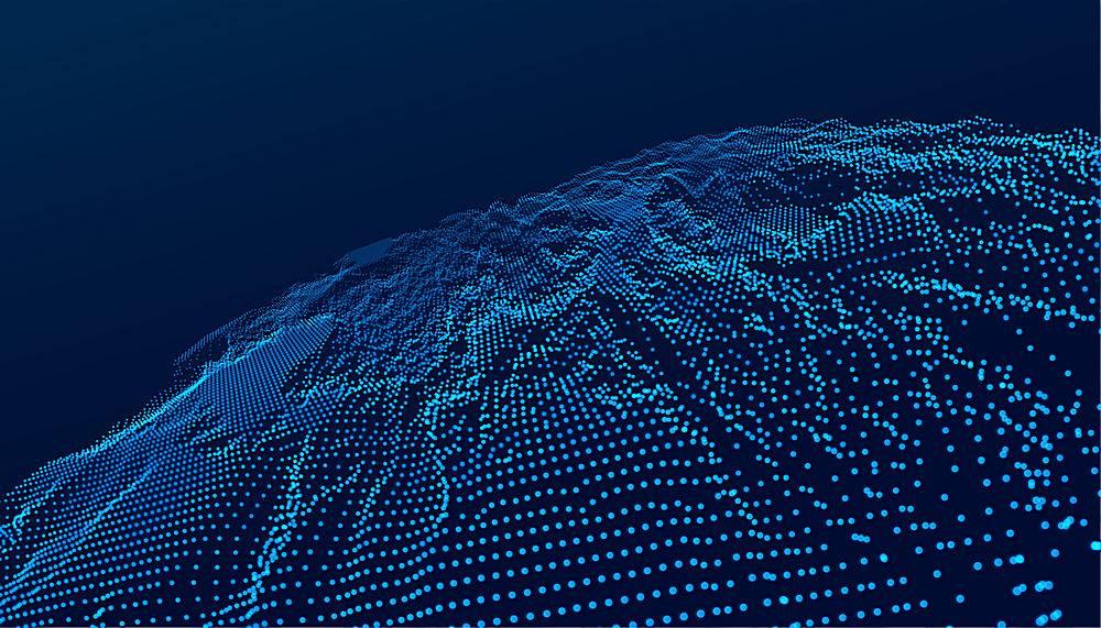 蓝色科技数字景观未来主义背景_7887838