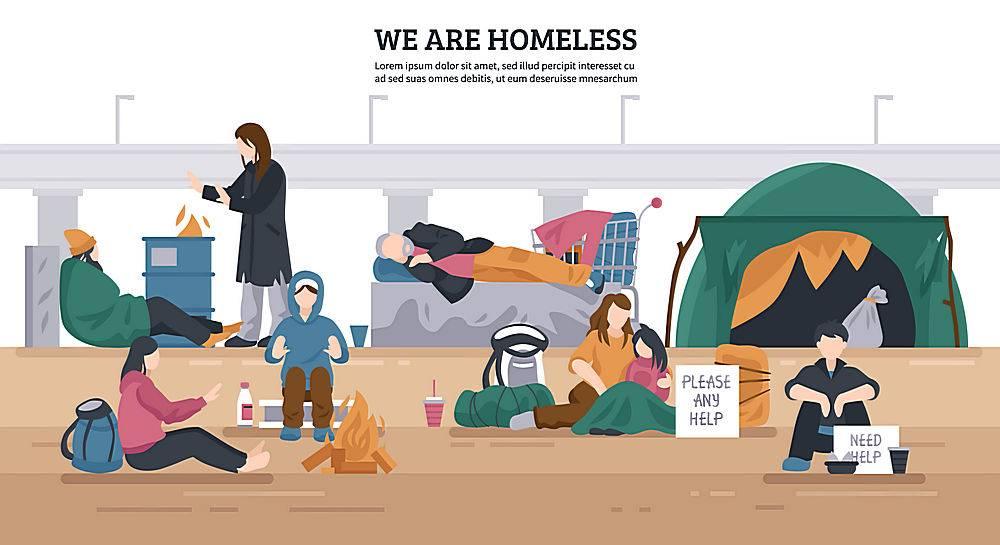 无家可归者横向背景_5453457