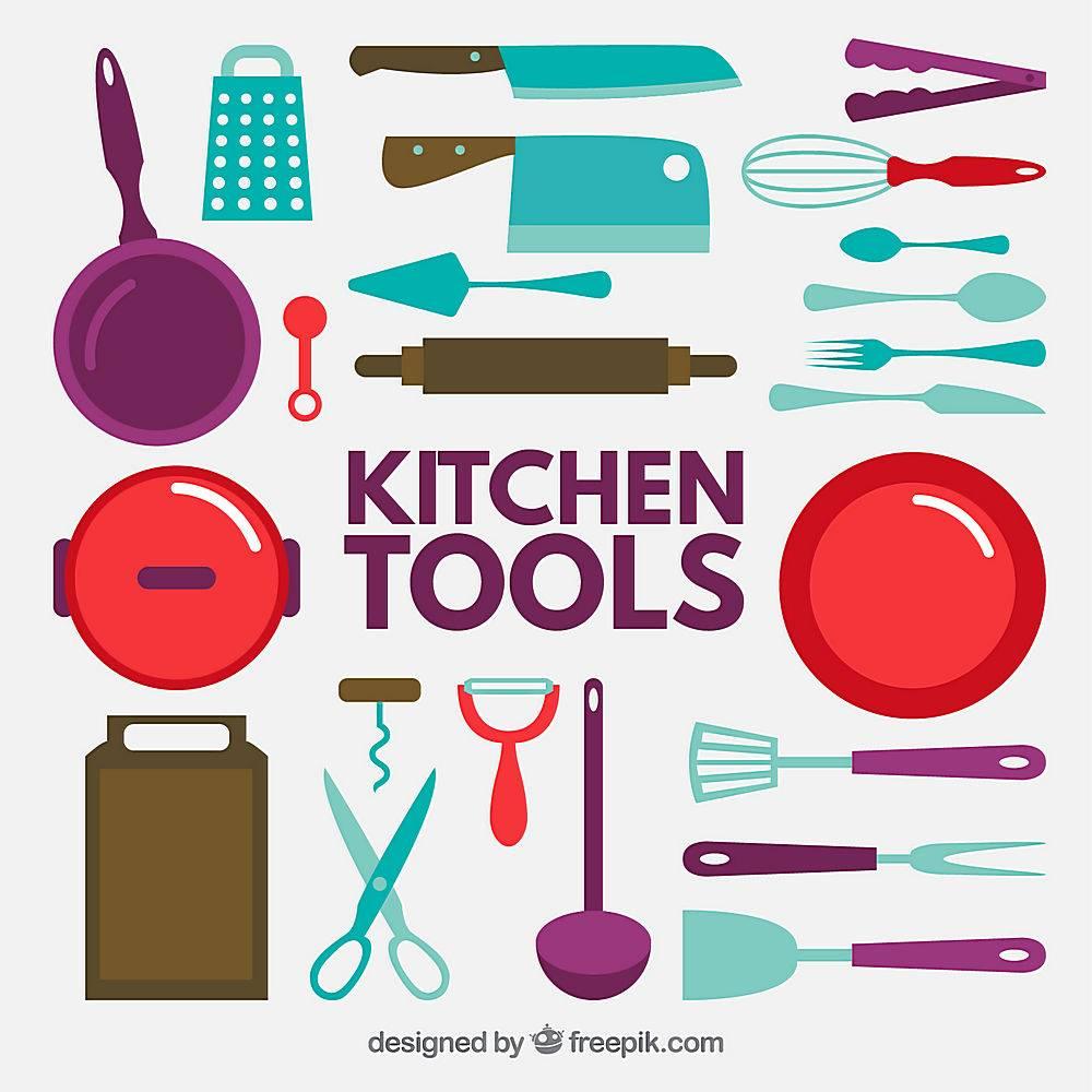 平面厨房工具图标集合_823474